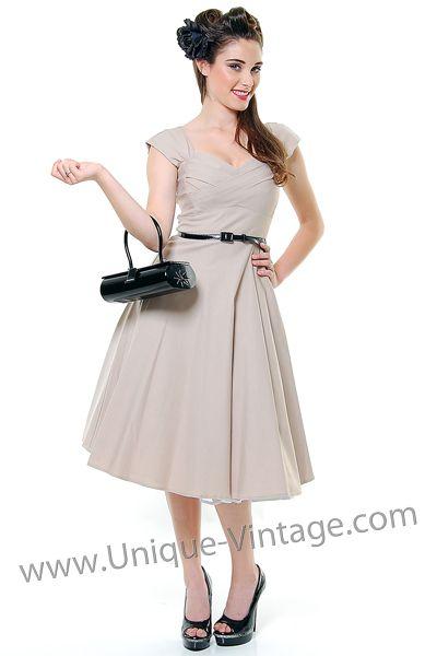 Unique Vintage Vintage Homecoming Dresses Sleeved Swing Dress Dresses