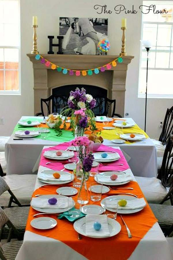 Top 47 lovely and easy to make easter tablescapes easter dinner top 47 lovely and easy to make easter tablescapes negle Images