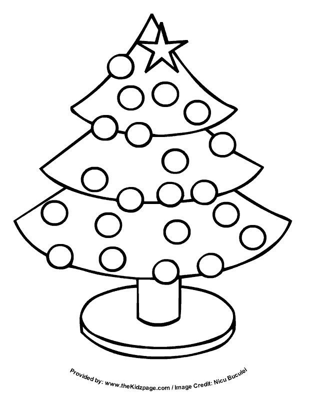 christmas tree free coloring pages for kids printable colouring sheets make - A Colouring Sheet