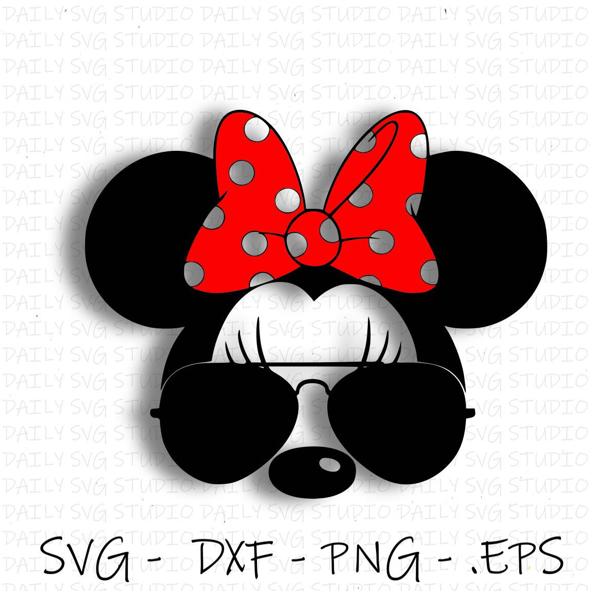 Minnie Mouse Sunglesses Svg Minnie Mouse SVG Disney Etsy