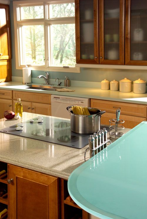 Elegant Corian Beach Glass Countertop