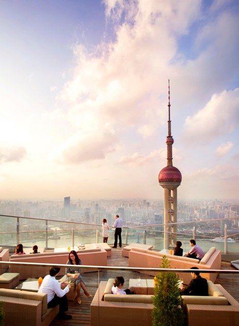 Enjoy a summer afternoon at FLAIR, the highest al fresco bar in China at The Ritz-Carlton Shanghai, Pudong.