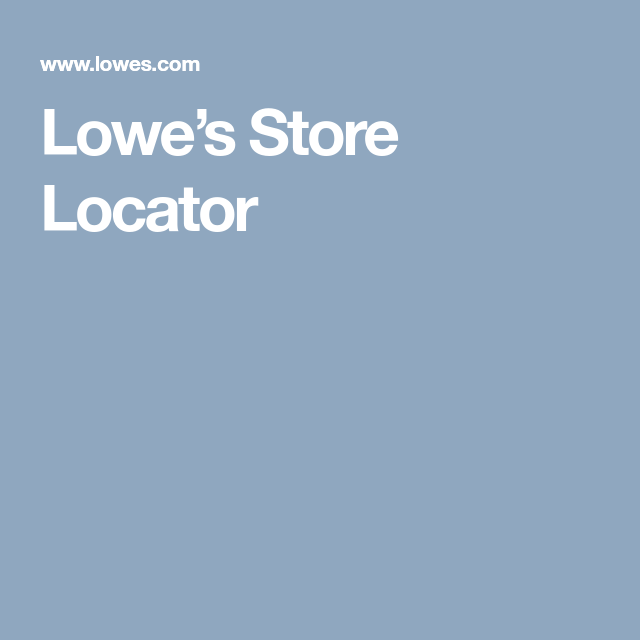 Lowes, Lowes Home Improvements, Lowe's