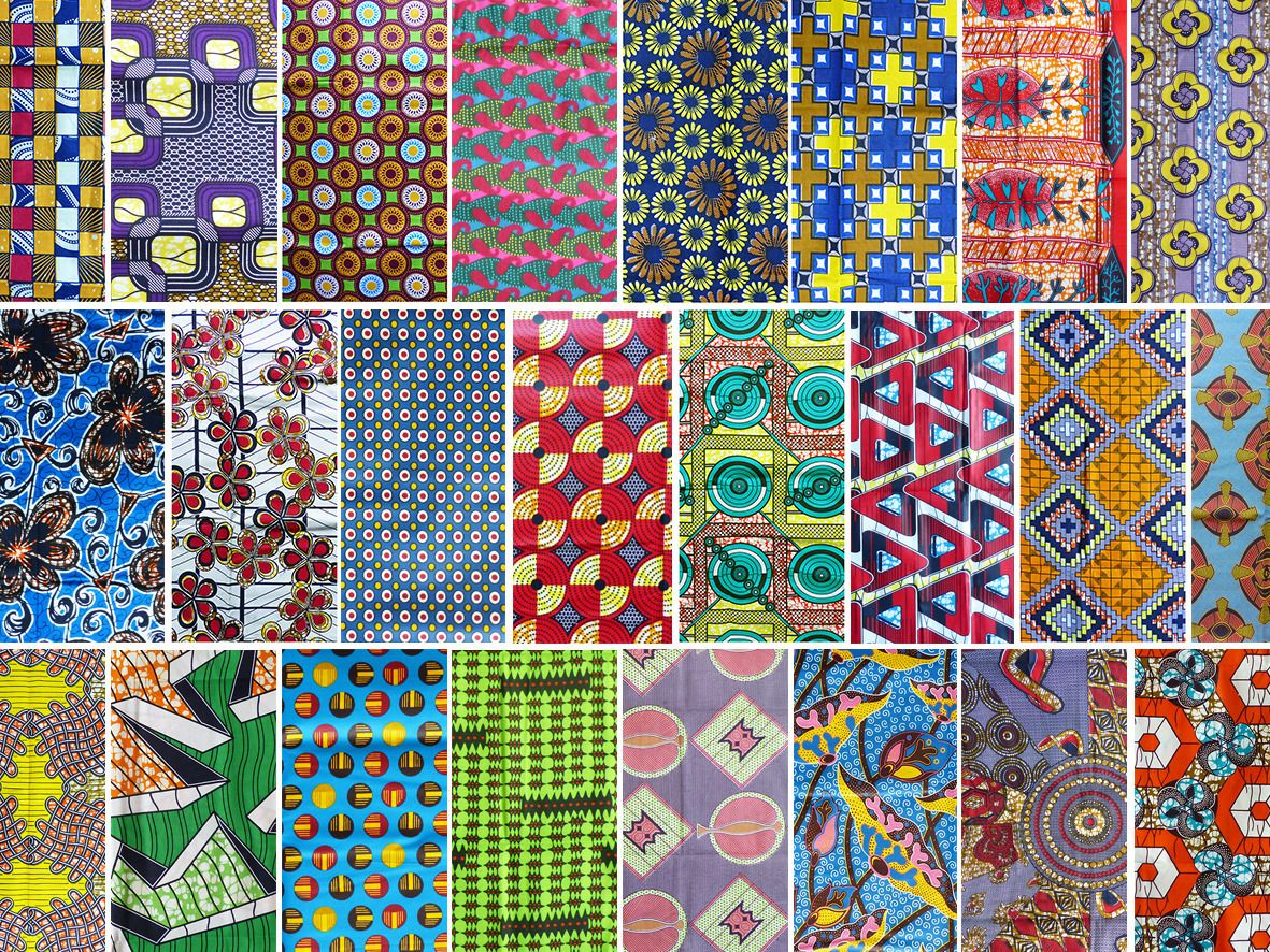 lot 30 samples african wax fabric patterns 20x25cm du. Black Bedroom Furniture Sets. Home Design Ideas