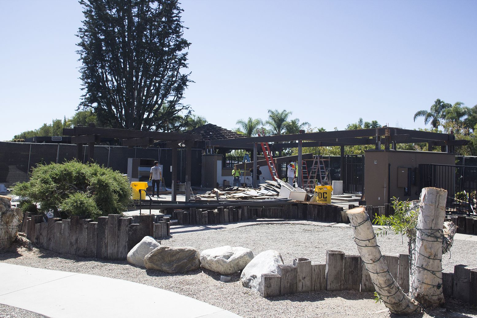 September 26, 2015 Trees are gone; tear down begins http