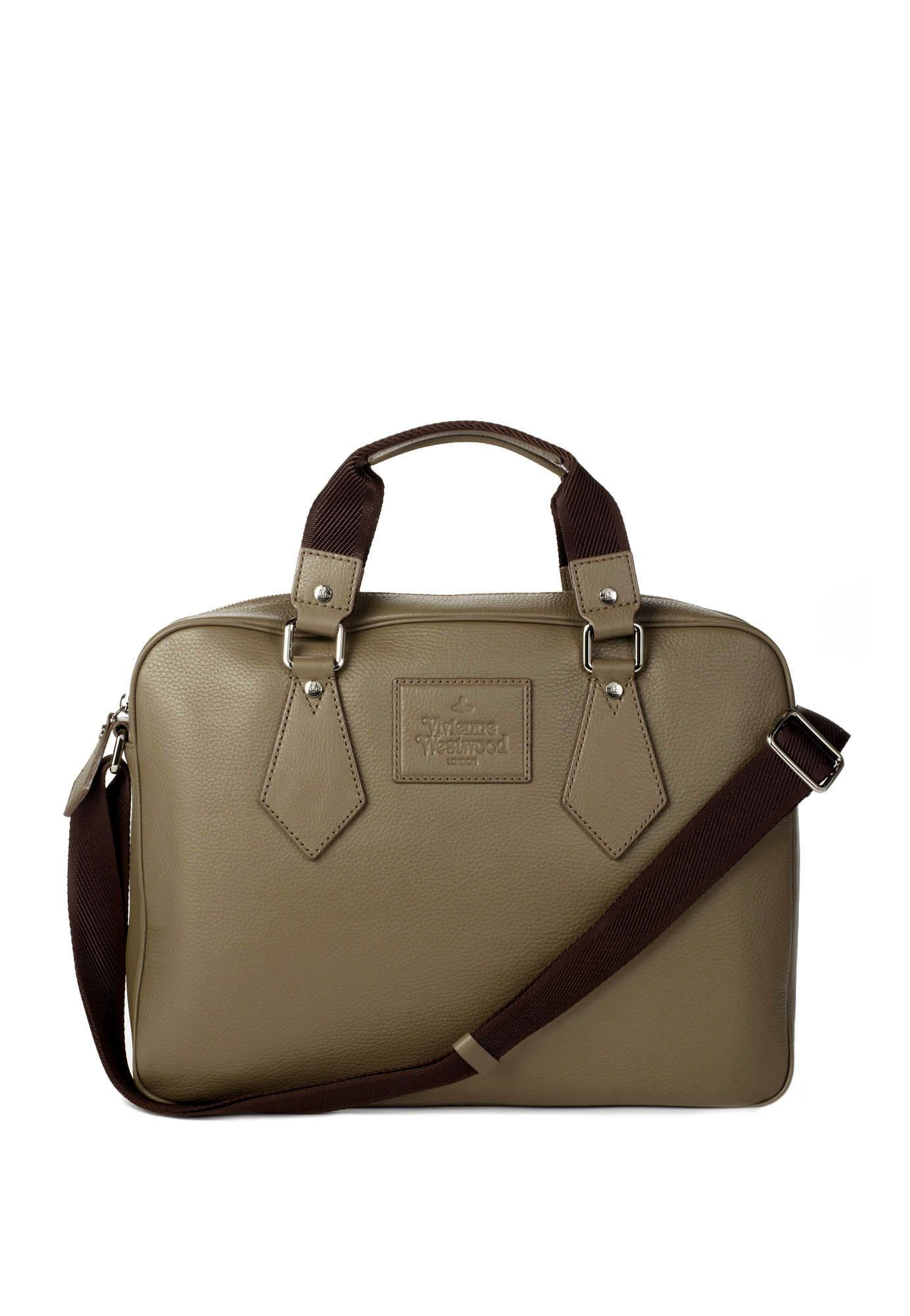 c649c17385b7 Man Leather BRIEFCASE - Taupe - by Vivienne Westwood