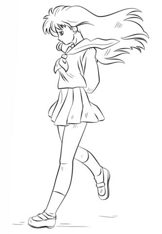 Kagome Higurashi Dibujo para colorear   Images a imprimer coloriage ...