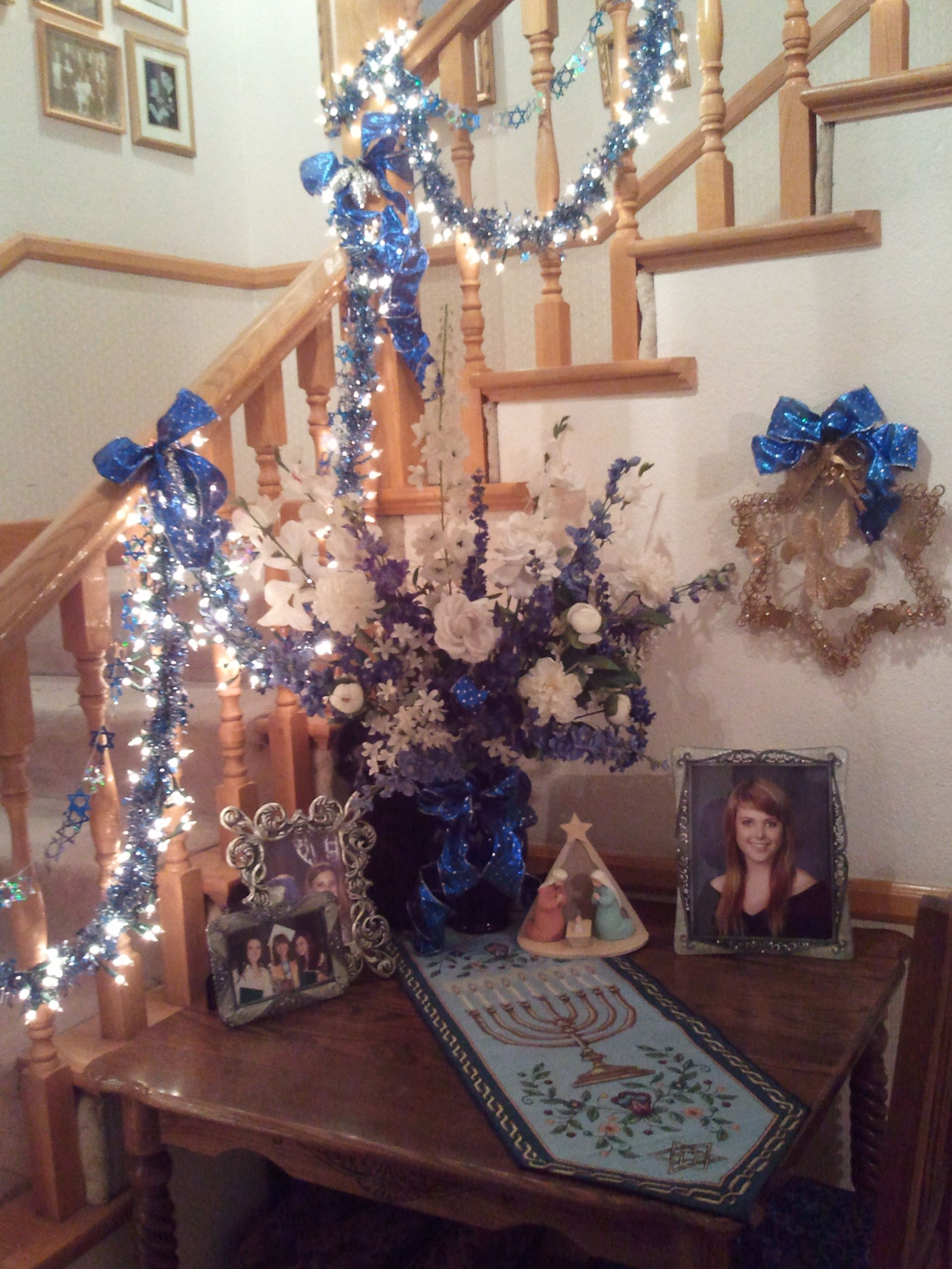 Hannukah Decorations In The Hallway