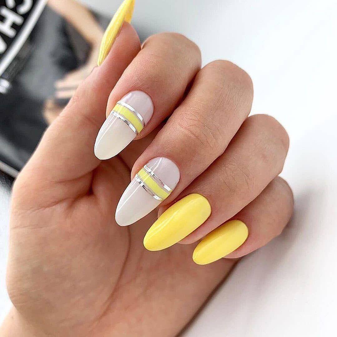 New Nail Paint Design Lcn Nails Different Nail Polish Designs Very Simple Nail Art Nail Varnish Desi Yellow Nails Gel Nails Manicure