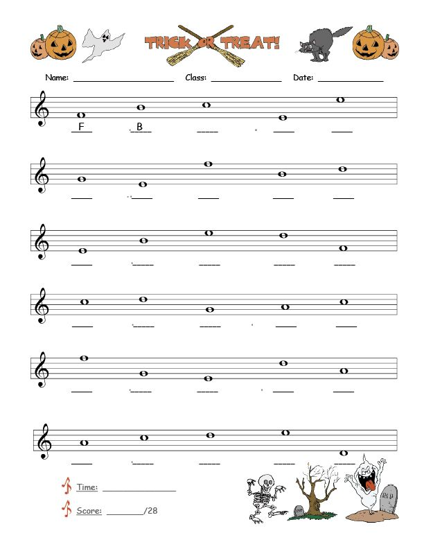 Music Notes Worksheets For Kids Music Note Names Worksheet These Worksheets Have 28 Whole With Images Music Notes Music For Kids Music Practice