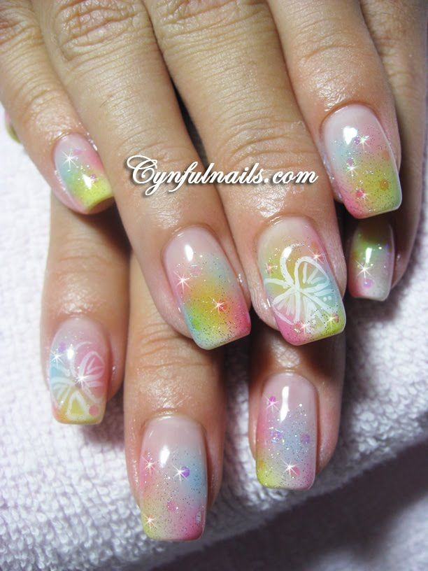 Nail Art | Airbrush nail art systems are very fast methods for nail ...