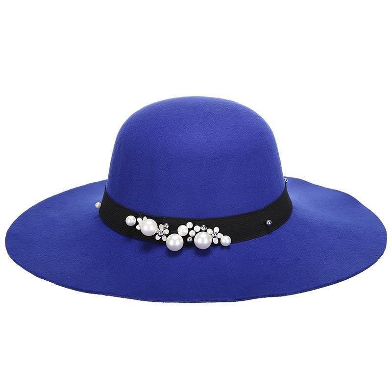 b212ebc6dca Fedora Hats For Women Wool Hat Wide Brim Wool Felt Bowler Fedora Floppy  Chapeau Femme Vintage