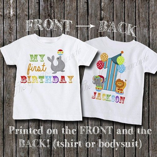 Circus Themed Birthday Party Shirt For Boys Or Girls 1550