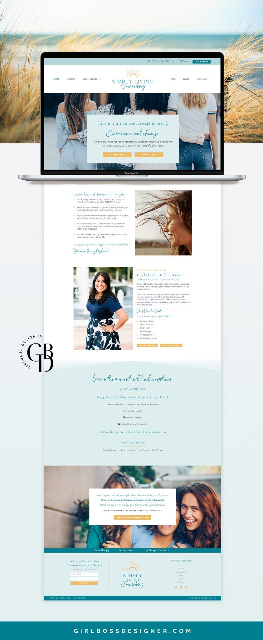 Yellow And Light Blue Branding And Web Design For Women S In 2020 Web Design Branding Web Design For Beginners