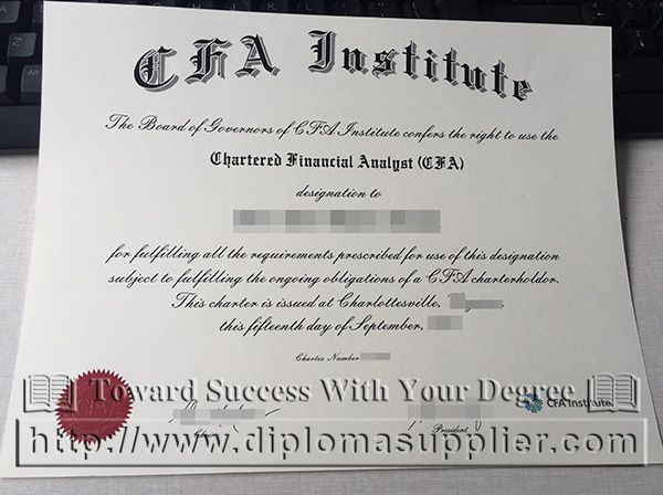 cfa analyst financial fake chartered diploma certificate professional certificates