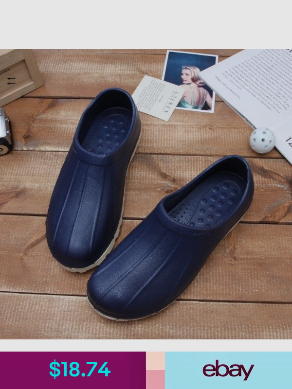 Non-Slip Navy Shoes Chef Clogs Water Oil Safety Hospital Kitchen Comfort DY777 I