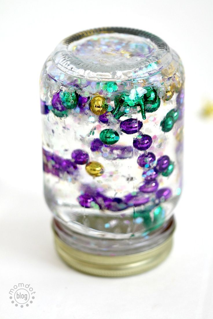 Mardi Gras Calming Jar Tutorial Mardi Gras Activities