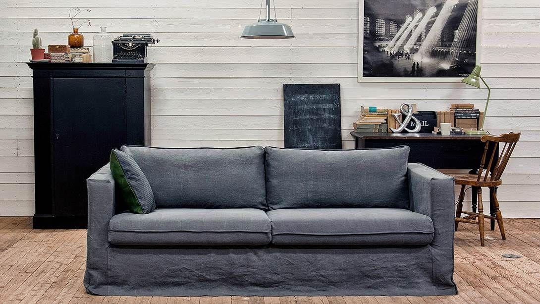Karlstad 3 Seater Sofa Cover Loose Fit Bemz Ikea Sofa Three Seater Sofa Furniture