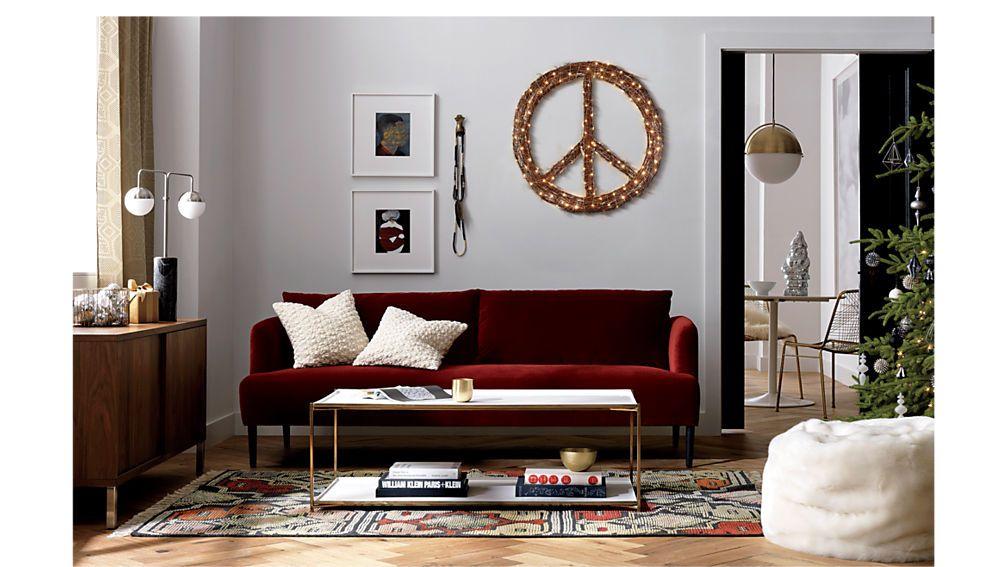 Ronan Wine Sofa Division Wine Cb2 Burgundy Sofa Living Room