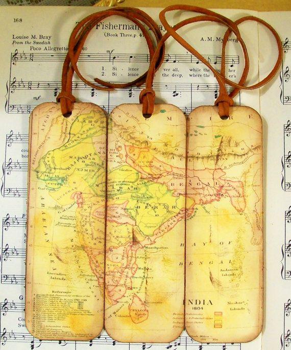 India bookmarks historical india map bookmarks gifts for men set of bookmarks historical india map bookmarks set of 3 by prayernotes gumiabroncs Choice Image