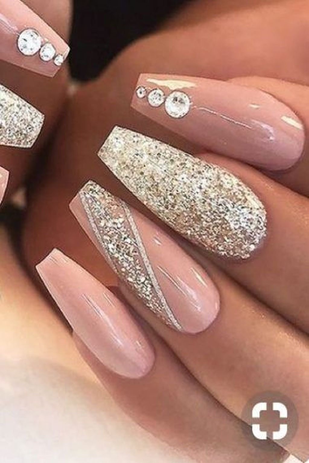 40 Lovely Glitter Nail Art Designs Ideas That You Will Love To Try In 2020 Long Acrylic Nails Stylish Nails Pink Nails