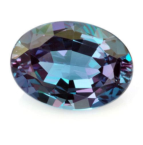 strong color change alexandrite oval weighing 0