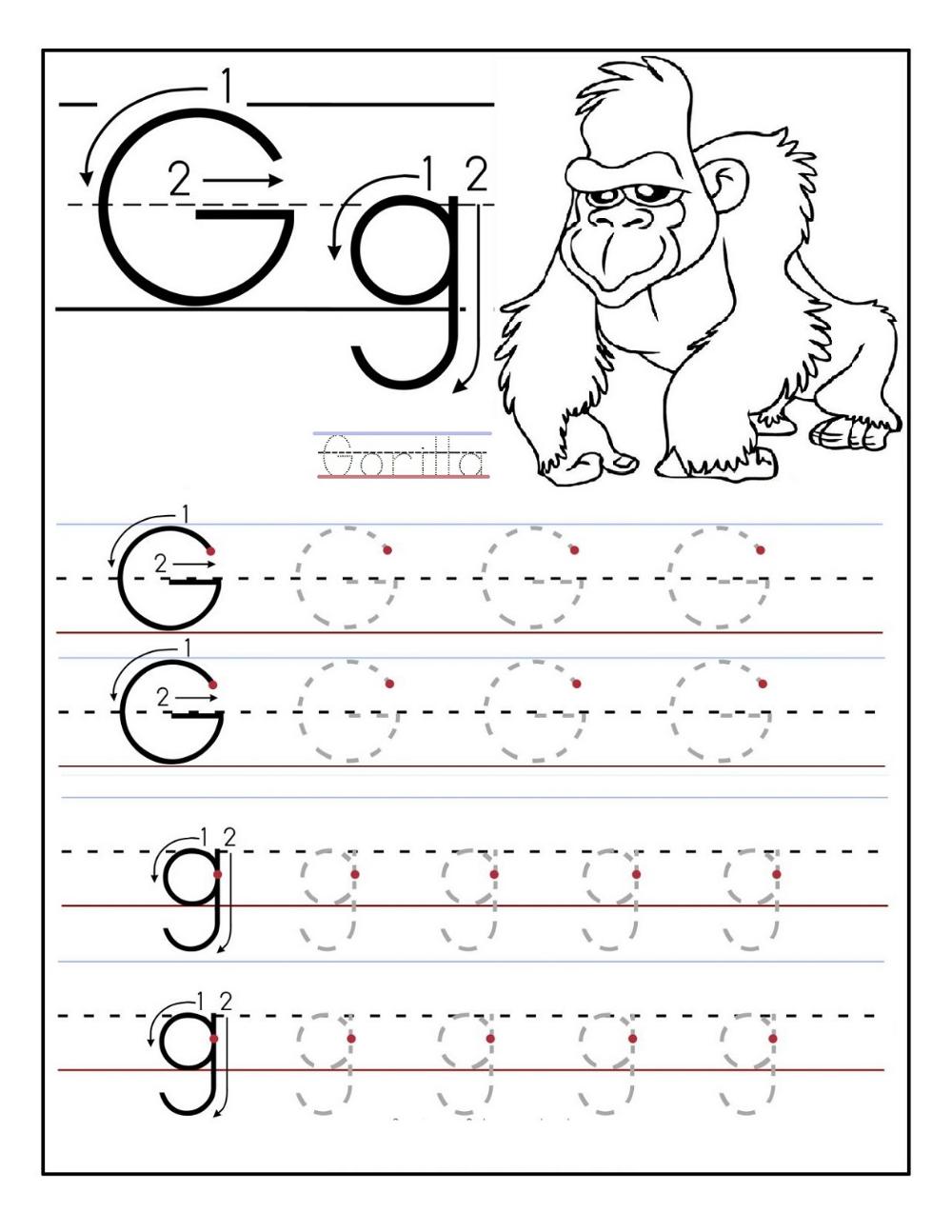 Free Printable Activities Alphabet Worksheets Preschool Tracing Worksheets Preschool Letter G Worksheets [ 1294 x 1000 Pixel ]