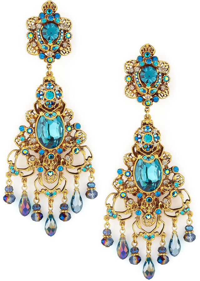 Jose & Maria Barrera Multicolor Filigree Earrings