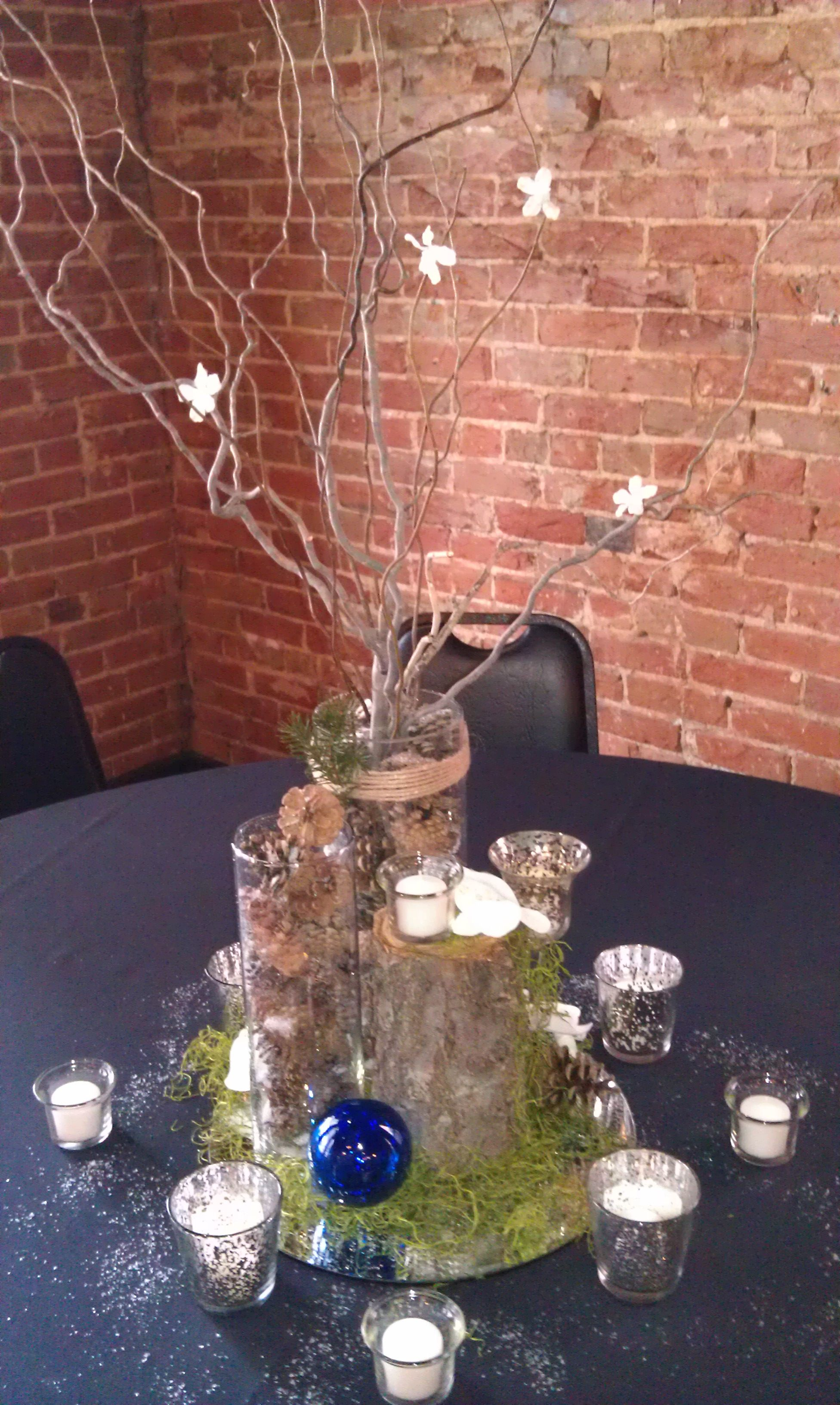 Birthday Party Ideas Elegant Woodsy Centerpiece
