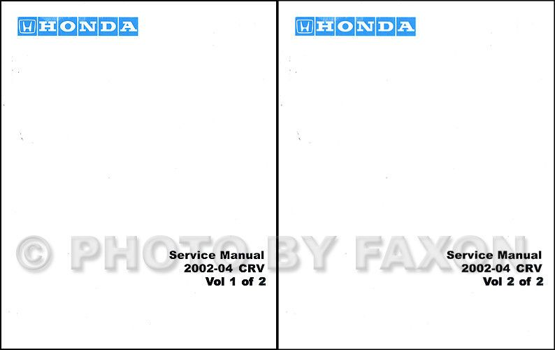 2002 2003 2004 Honda Cr V Shop Manual Crv Repair Service Book Set Oem Book Set Honda Cr Repair