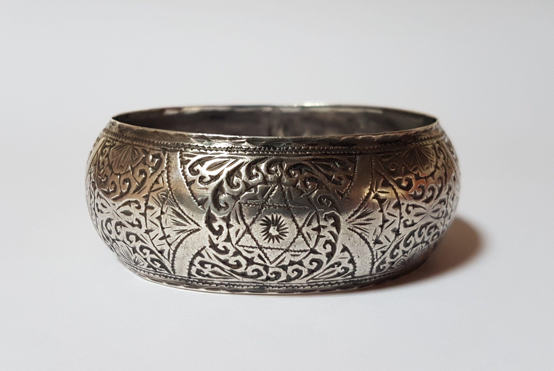 Constantinople antique moorish style sterling silver handmade Oriental ceramic tile ring