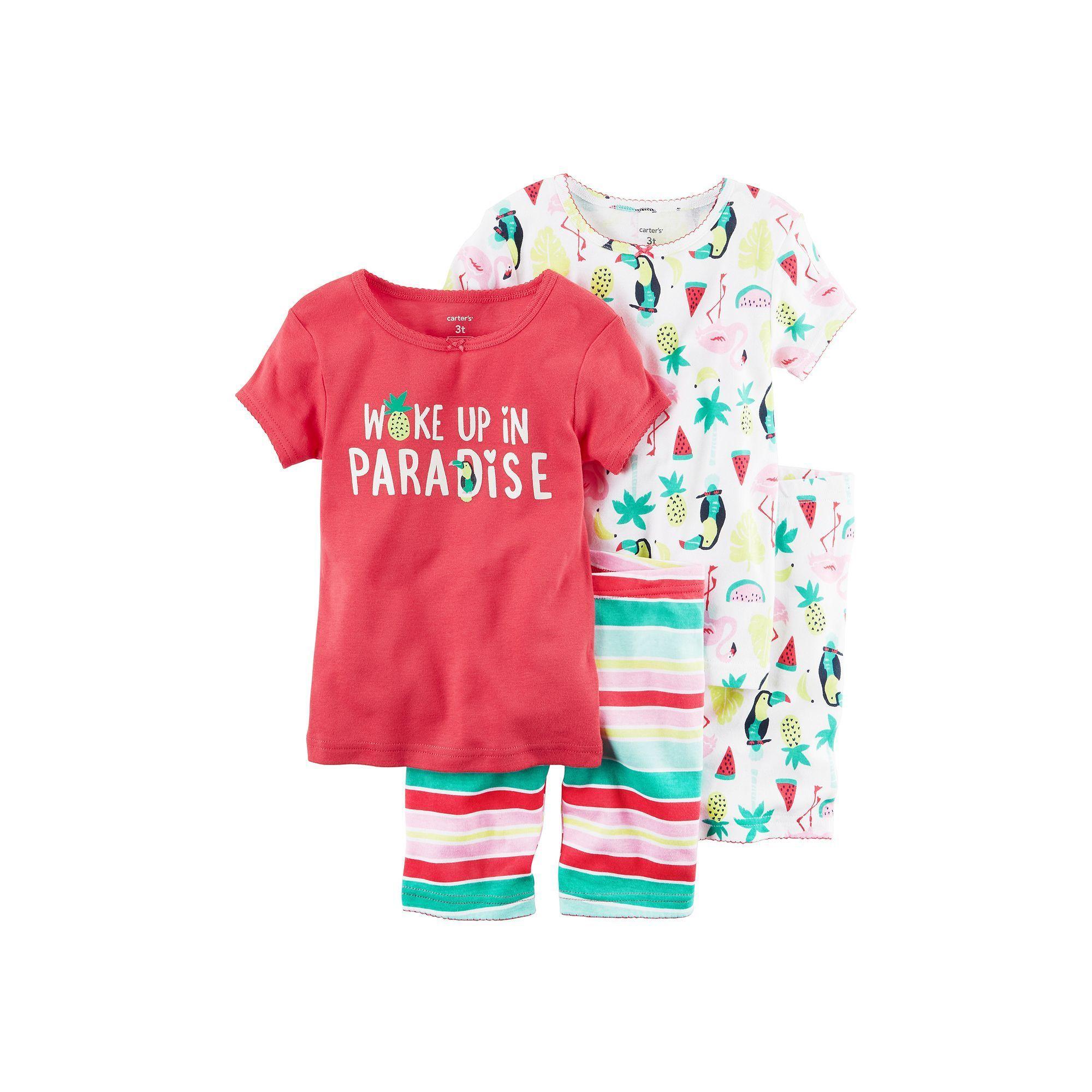 ab9bb9aa0 Girls 4-12 Carter s 4-pc. Graphic Pajama Set