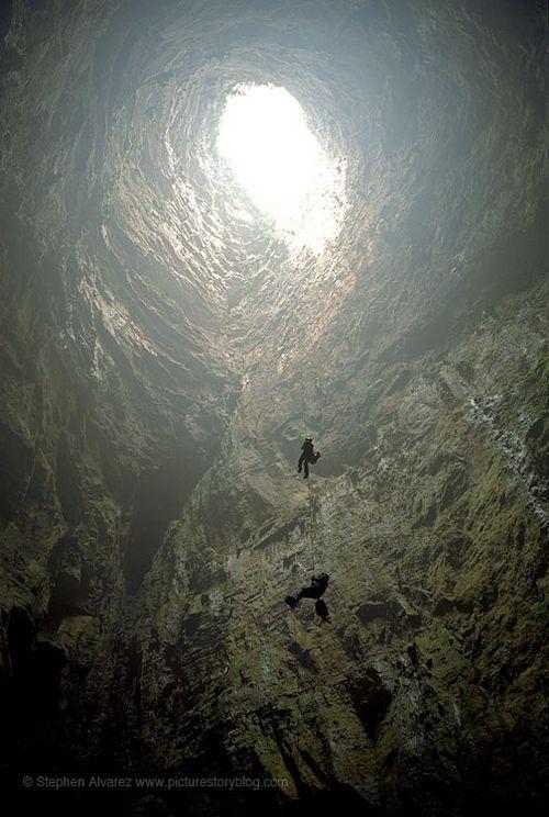 Sótano de las Golondrinas Aquismón, San Luis Potosí, Mexico.