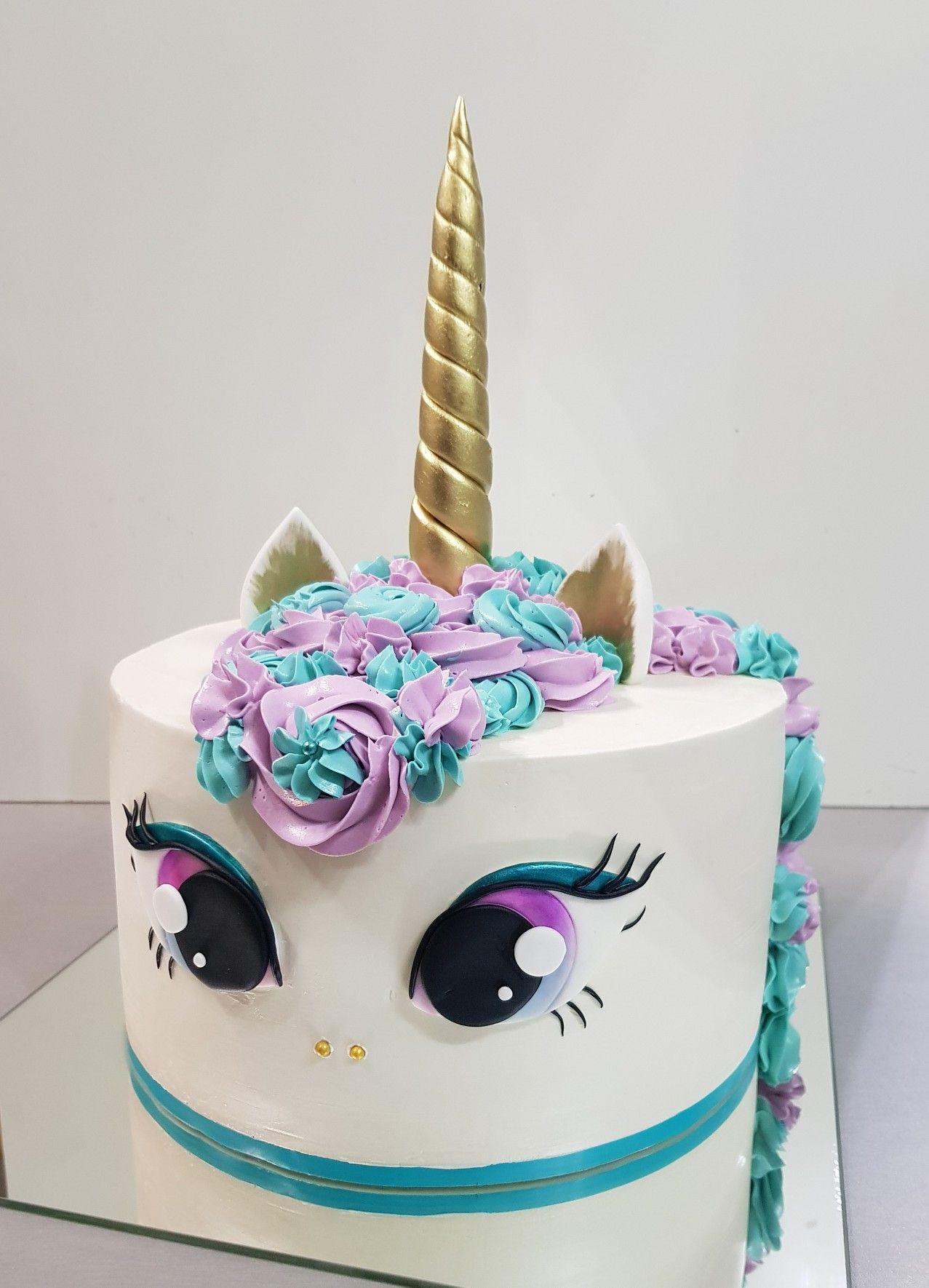 Unicorn Cake With Big Beautiful Eyes