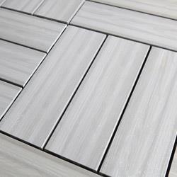 Kontiki Interlocking Wood Deck Tiles Real Xl Series 9 Slat 16 X16 X1