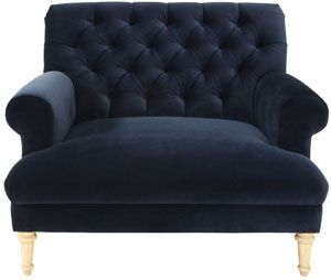Attractive Cobble Hill Prince Tufted Chair And A Half   Vance/indigo