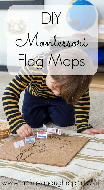 DIY Montessori Flag Pin Map is part of Montessori activities, Montessori geography, Montessori, Montessori lessons, Montessori elementary, Montessori school - The 12 Months of Montessori series is back for another year! This month's theme is culture and I'm happy to be sharing a project that I'…