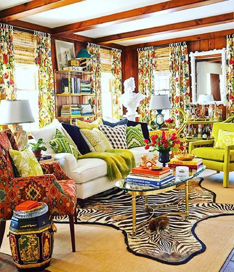 Eddie Ross Curtains Traditional Family Rooms Home