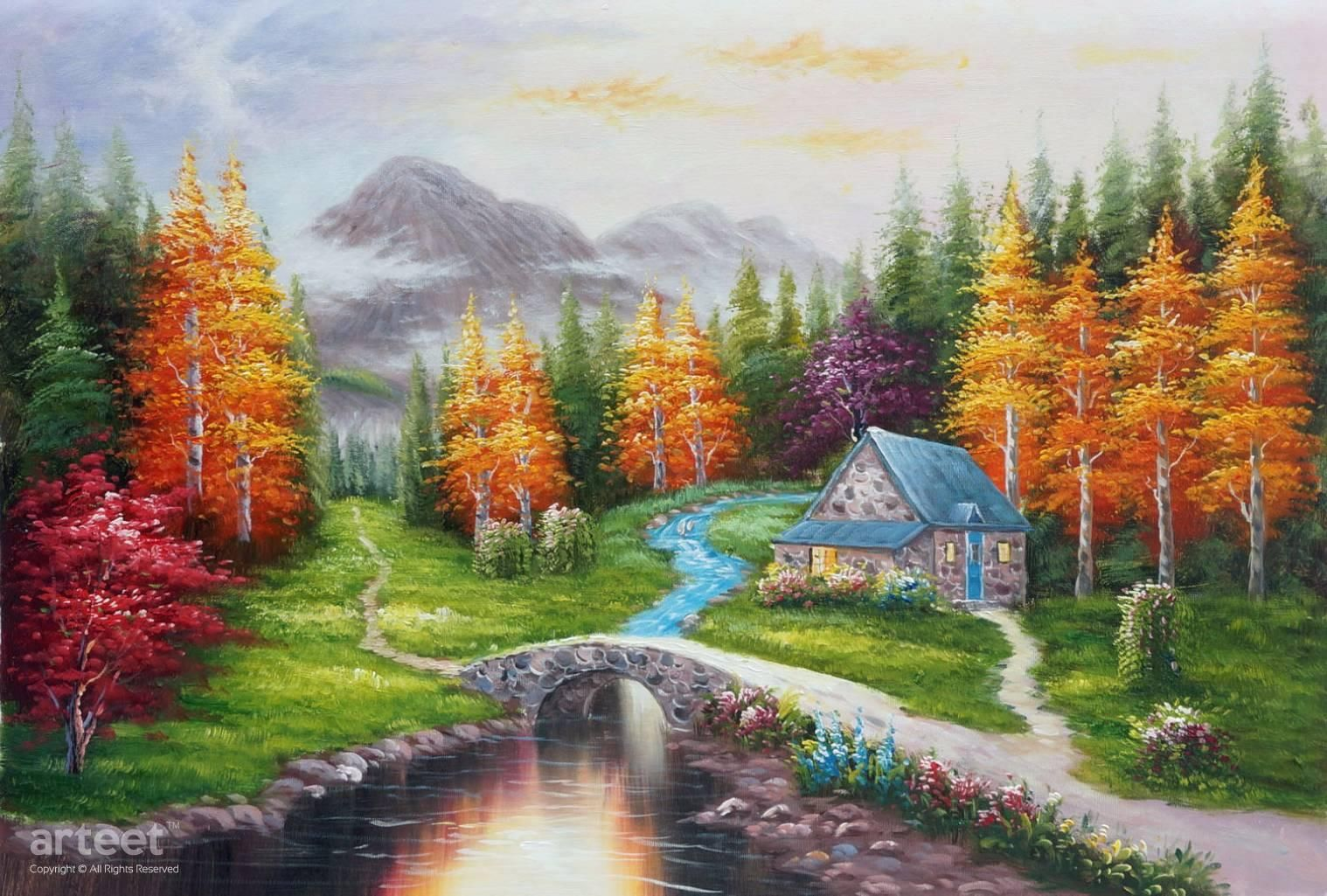 Pin On Landscapes Art Paintings