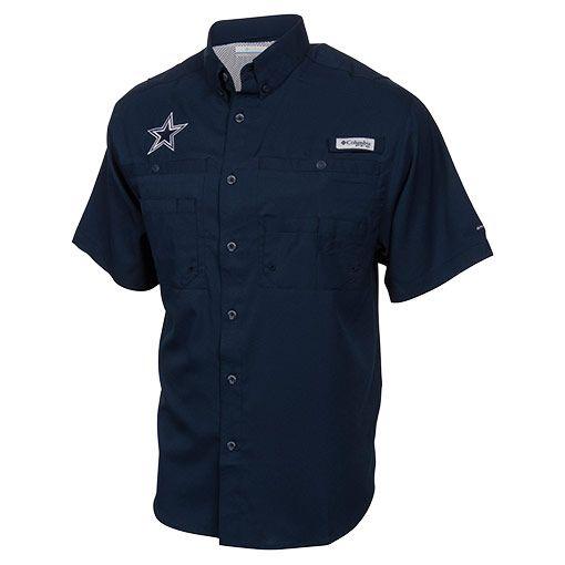 b75c85c15 Men s Columbia Dallas Cowboys NFL Tamiami II Fishing Shirt - C15002CB NVY