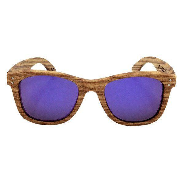 Bamboo Frame Polarized Sunglasses Cool Vintage Style