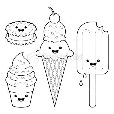Kawaii Coloring Sheets Ice Cream Coloring Pages Puppy Coloring
