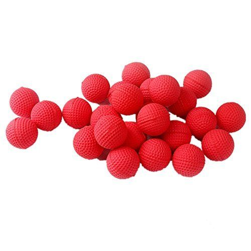 50/100pcs Nerf Rival Rounds Bullet Balls Refill Compatible 5 Colors Foam  Bullet Ball Replacement Refill Pack for Apollo Zeus Blasters Kids Child Te…