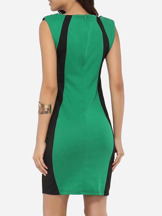 16a6c5f9c Buy Boat Neck Dacron Color Block Bodycon-dress online with cheap prices and  discover fashion Bodycon Dresses at Fashionmia.com.
