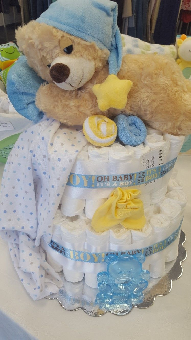 Twinkle Twinkle Little Star Diaper Cake Made With 78 Diapers 1