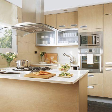 diseño de cocinas pequeñas con barra - Buscar con Google | pared ...