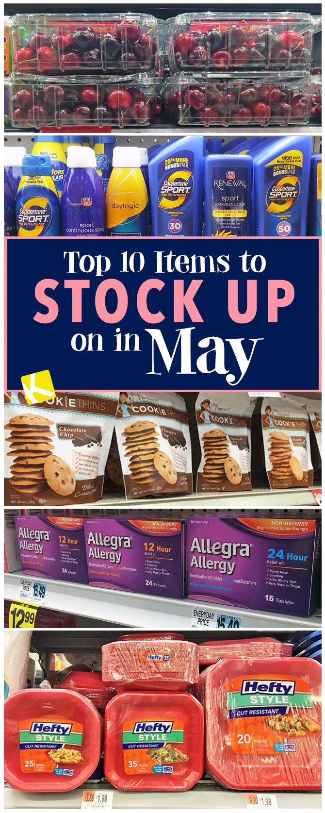 Top 10 Items to Stock Up on in May