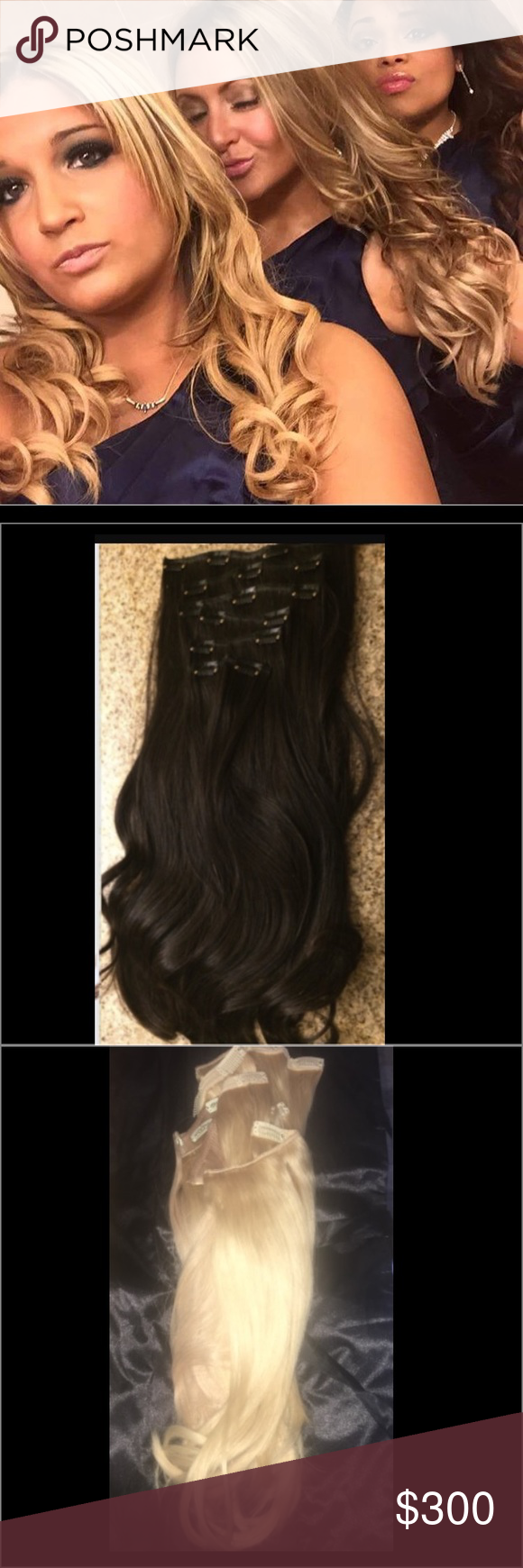 Clip In Hair Extensions Clip In Hair Extensions In 3 Different