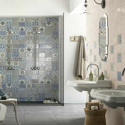 Faience Venezia Cmr Geometric Decor Tiles Uk Bathroom Inspiration