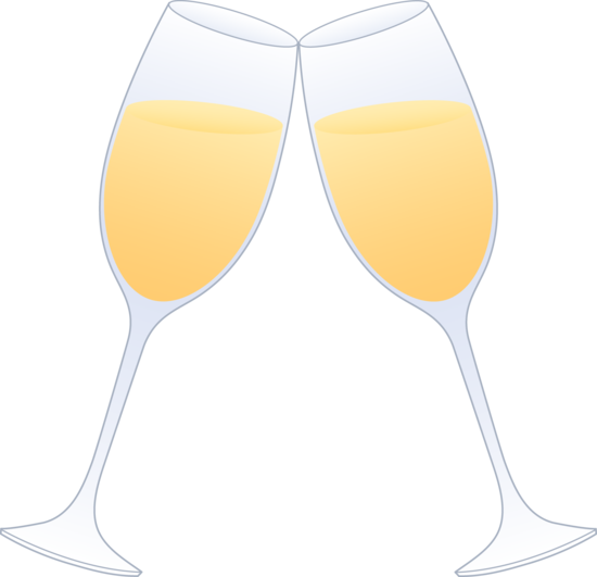 Glasses Of Champagne Clinking Free Clip Art Free Clip Art Clip Art Champagne